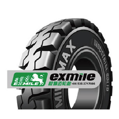 Milemax non-pneumatic forklift tyre sale for outdoor lift truck